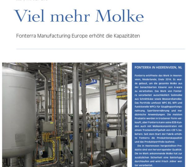 Internationale aandacht voor Fonterra-ALPMA-JES project in Molkerei