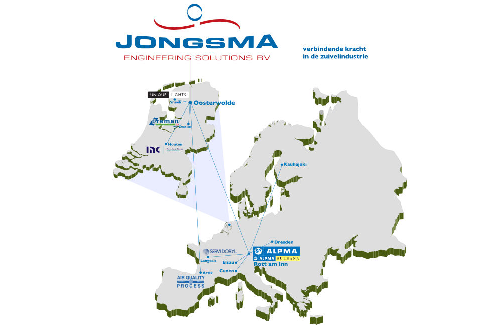 Kaart Europe Jongsma Engineering Solutions